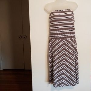 Michael Stars striped strapless dress